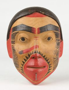 John Gwaytihl (Haida). Mask of a young girl, c. 1880. Courtesy of the Division of Anthropology, American Museum of Natural History, New York.