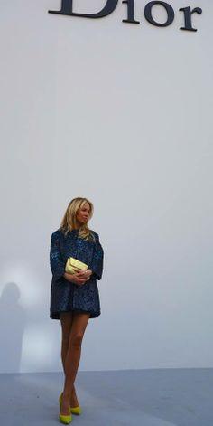 Joanna Przetakiewicz at Dior fashion show Paris