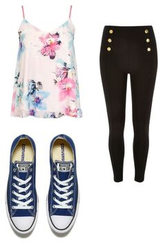 """Untitled #411"" by may5lin on Polyvore featuring Dorothy Perkins and Converse"