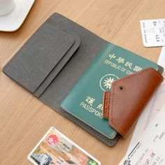 GOODJOB Hybrid Passport Holder  #accessories #lifestyle #passport #recycled leather #leather #stationery #product #design  www.goodjobstore.com facebook.com/goodjobstore