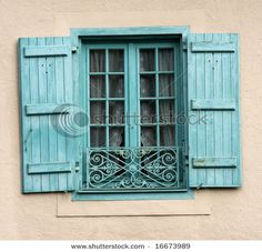 <3 Thinking about going with this color for my shutters on our future french country house!