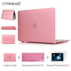 CTRINEWS Matte Case for Macbook Air Pro 13.3 Retina 12 13 15 Hard Frosted Laptop Case Cover Sleeve for Apple Macbook Air 13 Case