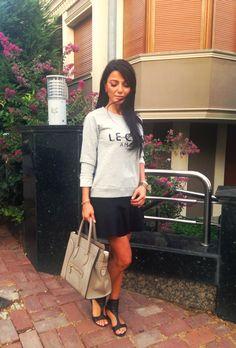 Sweatshirt and skirts celine bag,new season 2014,fashion