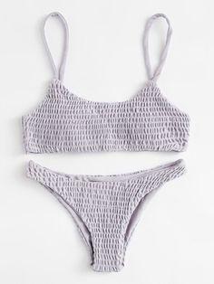Ruched Cami Bikini Set -SheIn(Sheinside)