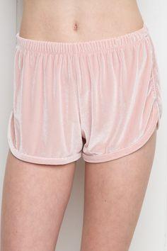 Brandy ♥ Melville | Lisette Velvet Shorts - Silk & Velvet Pieces - Clothing