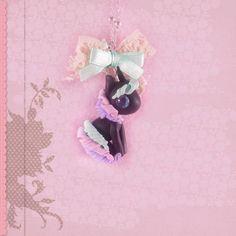 Einhorn Kette Halskette Anhänger Unicorn mit Schleife kawaii Schmuck handgemacht