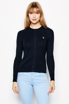 Shop the latest in British styles for Men and Women. Established in Salcombe, Devon, England - the home of Jack Wills. Cable Cardigan, British Style, Mens Fashion, Blouse, Jack Wills, Sweaters, Shopping, Tops, Women