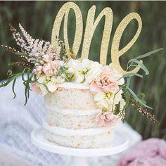1st Birthday Cake Topper First Birthday Birthday by Glambanners