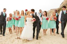 "Brian and Deze's DIY Beach Wedding is a gorgeous ""turquoise"" must see! // image: Jennifer Wilson Photography"