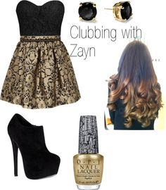 """Clubbing with Zayn"" by one-direction-outfits1 ❤ liked on Polyvore"