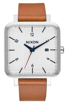 A thin, square case and a simple, easy-to-read face make this leather watch an instant fave from the Nordstrom Anniversary Sale.