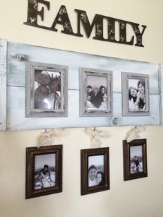 Felix Lake~large wall space in hallway family collage~ using ASCP & cheap frames