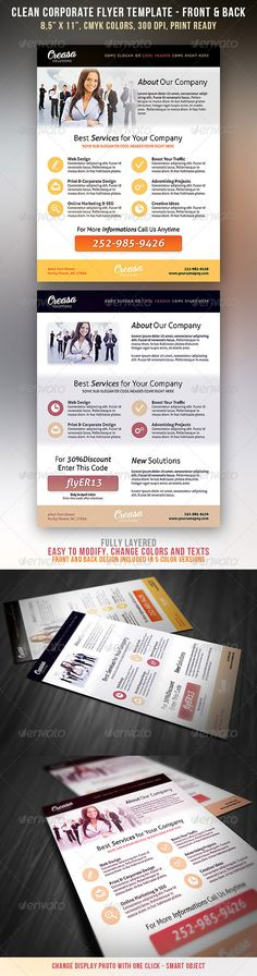 Clean Corporate Flyer - http://graphicriver.net/item/clean-corporate-flyer/4261739?ref=cruzine