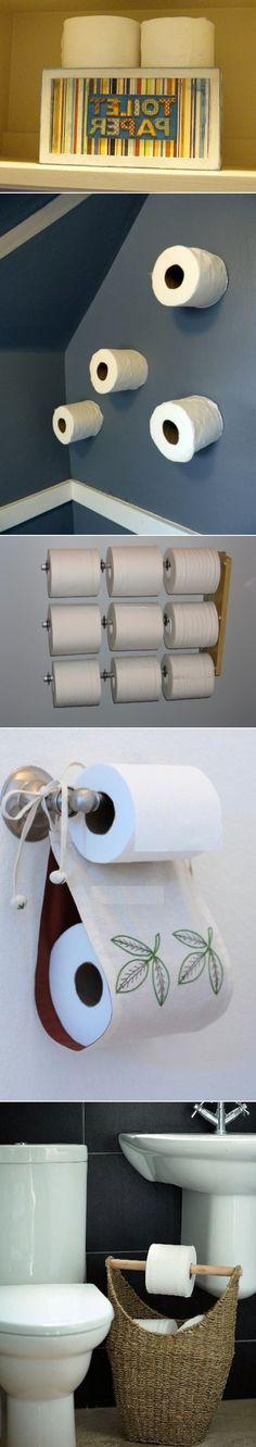 DIY Toilet Paper Storage Solutions