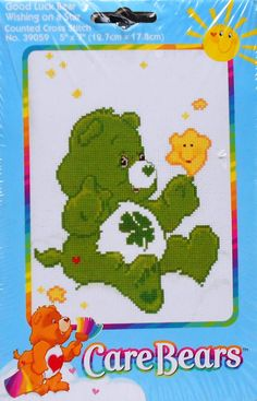 Care Bears GOOD LUCK BEAR Wishing On A Star - Counted Cross Stitch Pattern Chart Kit - Rare op Etsy, Verkocht