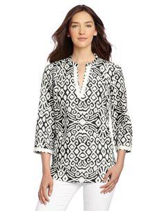 Jones New York Women's 3/4 Sleeve Tunic - Listing price: $79.00 Now: $48.00 + Free Shipping