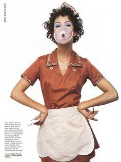 ☆ Carolyn Murphy   Photography by François Nars   For Jane Magazine   September 1997