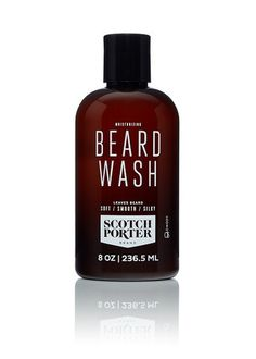 The Scotch Porter Moisturizing Beard Wash hydrates your beard, keeping it full of life. It also helps keep your beard soft, shiny, healthy, and clean. Beard Wash, Beard Oil, Beard Conditioner, Beard Shampoo, Aloe Leaf, Sulfate Free Shampoo, Beard Grooming, Perfume Bottles, Skin Care