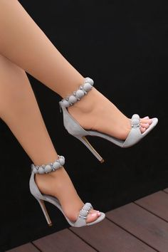 grey stylish sandals