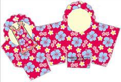 Cajitas imprimibles para pijamada hawaiana.