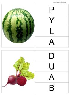 BLOG EDUKACYJNY DLA DZIECI: ALFABET (LITERKI - KLAMERKI) Watermelon, Fruit, Blog, Education, Speech Language Therapy, Educational Illustrations, Learning, Onderwijs, Studying