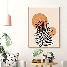 Tropical Home Decor, Plant Painting, Mid Century Art, Diy Canvas Art, Minimalist Art, Abstract Print, Diy Art, Wall Art Prints, Decoration