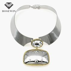 Punk Silver Color Choker Necklace Women  Square Pendant Wide Torques Bib Collar Statement Necklaces Maxi Jewelry Do you want itVisit our store --->  http://www.rumjewelry.com/product/bosewin-punk-silver-color-choker-necklace-women-fashion-square-pendant-wide-torques-bib-collar-statement-necklaces-maxi-jewelry/ #shop #beauty #Woman's fashion #Products #homemade