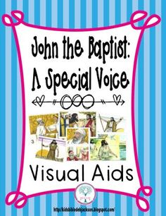 Bible Fun For Kids: Cathy's Corner: John the Baptist: A Special Voice Bible Lessons For Kids, Bible For Kids, Jesus Crafts, Kids Class, Visual Aids, Craft Free, Sunday School Crafts, John The Baptist, The Voice