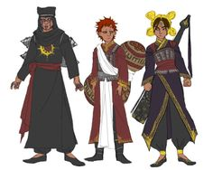 ryouryou: in the racially diverse naruto headcanon, sand siblings hail from more western asia