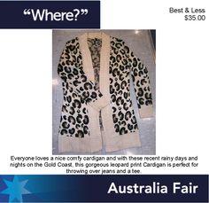 Australia Fair Best Less Leopard Print Cardi
