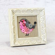 Made To Order Baby Bird Button Art  Small by PaintedWithButtons
