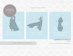 Frozen  INSTANT DOWNLOAD Digital Printable by LemonAvenueDesigns, $18.00