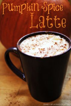 Easy Pumpkin Spice Latte - brew the coffee with the spices mixed in. Starbucks Pumpkin Spice Latte, Pumpkin Spiced Latte Recipe, Spiced Coffee, Pumpkin Pie Spice, Pumpkin Recipes, Keurig Recipes, Starbucks Recipes, Coffee Recipes, Drink Recipes