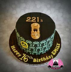 221B Baker Street Sherlock Holmes cake