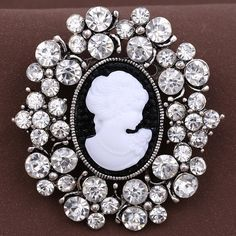 Find More Brooches Information about 46*49mm handmade Beauty head vintage brooch color rhinestone brooches for women diy Fashion Jewelry breastpin brooch pins,High Quality brooch,China brooch blank Suppliers, Cheap brooch pendant from Playful beauty department store on Aliexpress.com
