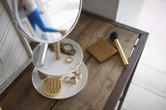 YAMAZAKI home Tosca Accessory Trays/Mirror * Visit the image link more details.-It is an affiliate link to Amazon. #bathroomfixtures Mirror Words, Maximize Space, Wood Mirror, Everyday Items, W 6, Beauty Supply, Bathroom Fixtures, White Wood, Jewelry Organization