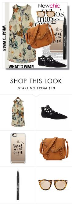 """""""NewChic !"""" by dianagrigoryan ❤ liked on Polyvore featuring Casetify, Trish McEvoy and Karen Walker"""