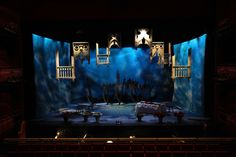 RSD The Gondoliers. Scenic design by Elroy Ashmore. Set Theatre, Set Design Theatre, Stage Set Design, Scenic Design, Elements Of Design, Stage Lighting, Design Model, Lighting Design, Design Inspiration