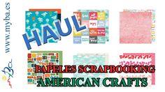 Haul Papeles Scrapbooking American Crafts por unidades. Papeles scrap, todos a 1 click aquí en MYBA: http://www.manualidadesybellasartes.es/8148/es/Categoria/007-394--/papeles-scrapbooking-sueltos.aspx