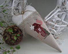 """Herz++XXL+Weihnachten""""+Landhaus+von+Feinerlei+auf+DaWanda.com"""