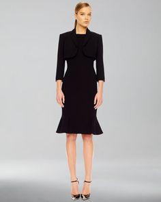 Stretch Bolero & Flare-Hem Crepe Dress by Michael Kors at Neiman Marcus.