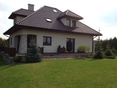 Widok od ogrodu  #ogród #projekt #dom
