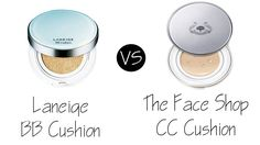 Laneige BB Cushion vs The Face Shop CC Cushion