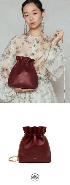 Shop the Lynton Mini Bucket on Mulberry.com. Introducing the new Lynton bag, a contemporary style with decadent ruffles and graceful closure, crafted from the softest leather to enhance its relaxed, elegant silhouette. This smaller size can be carried by hand or on its delicate chain shoulder strap.