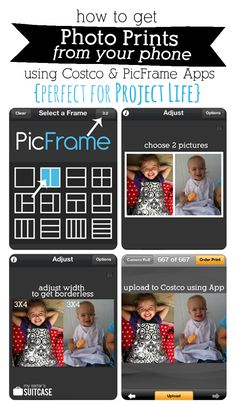 Great instructions on how to print different size pics and print them at walgreens, costco etc. good to know for project life or just for printing smaller pictures.
