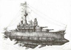 Steampunk Battleship steampunk battleship or airship ? steampunk, my way
