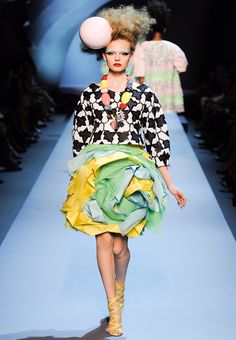 Christian Dior Haute Couture inspired by Ettore Sottsass and the Memphis Milano Movement in the 80's