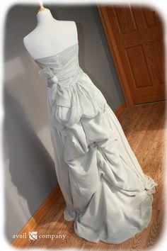 Strapless Vintage Style Silk Chiffon Dress Custom Made by AvailCo, $650.00