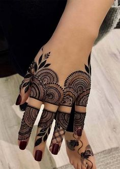 Latest hand henna designs for weddings in 2019 78 » canshave.com