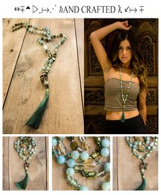 Earth Angel Mala Necklace Healing, Yoga and Meditation Necklaces with a Boho look...